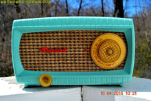 Load image into Gallery viewer, SOLD! -Apr 15,2016 - TURQUOISE AND WICKER Retro Vintage 1949 Capehart Model 3T55B AM Tube Radio Totally Restored! - [product_type} - Capehart - Retro Radio Farm