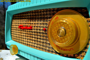 SOLD! -Apr 15,2016 - TURQUOISE AND WICKER Retro Vintage 1949 Capehart Model 3T55B AM Tube Radio Totally Restored! - [product_type} - Capehart - Retro Radio Farm