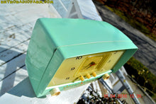 Load image into Gallery viewer, MINT GREEN Retro Mid Century 1955 Westinghouse Model H-548T5 AM Tube Radio Alarm Clock Totally Restored! , Vintage Radio - Westinghouse, Retro Radio Farm  - 10