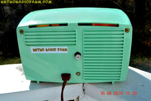 Load image into Gallery viewer, MINT GREEN Retro Mid Century 1955 Westinghouse Model H-548T5 AM Tube Radio Alarm Clock Totally Restored! , Vintage Radio - Westinghouse, Retro Radio Farm  - 15