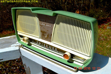 SOLD! - Dec. 8, 2017 - SAGE GREEN Wonder Mid Century Retro Antique 1959 Rogers Majestic AM Vacuum Tube Radio Totally Restored! - [product_type} - Philips - Retro Radio Farm