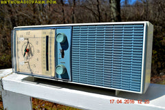 SOLD! - May 4, 2016 - SLATE BLUE Mid Century Antique Retro Vintage 1963 RCA Victor Model RGS19A AM/FM Tube Clock Radio Works Great! , Vintage Radio - RCA Victor, Retro Radio Farm  - 4