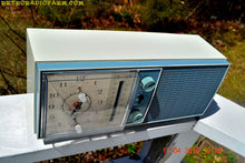 Load image into Gallery viewer, SOLD! - May 4, 2016 - SLATE BLUE Mid Century Antique Retro Vintage 1963 RCA Victor Model RGS19A AM/FM Tube Clock Radio Works Great! - [product_type} - RCA Victor - Retro Radio Farm
