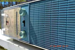 SOLD! - May 4, 2016 - SLATE BLUE Mid Century Antique Retro Vintage 1963 RCA Victor Model RGS19A AM/FM Tube Clock Radio Works Great! , Vintage Radio - RCA Victor, Retro Radio Farm  - 10