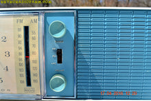 Load image into Gallery viewer, SOLD! - May 4, 2016 - SLATE BLUE Mid Century Antique Retro Vintage 1963 RCA Victor Model RGS19A AM/FM Tube Clock Radio Works Great! , Vintage Radio - RCA Victor, Retro Radio Farm  - 9