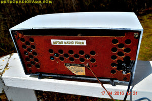 SOLD! - May 10, 2016 - ALPINE WHITE Mid Century Retro Antique 1952 Airline Model BR-1558B Tube AM Radio Works! - [product_type} - Airline - Retro Radio Farm