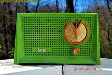 Load image into Gallery viewer, SOLD! - Apr 12, 2017 - BLUETOOTH MP3 READY - Grasshopper Green Retro Jetsons Vintage 1955 Arvin 951T AM Tube Radio Works Great! - [product_type} - Arvin - Retro Radio Farm