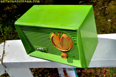 BLUETOOTH MP3 READY - Grasshopper Green Retro Jetsons Vintage 1955 Arvin 951T AM Tube Radio Works Great! , Vintage Radio - Arvin, Retro Radio Farm  - 7