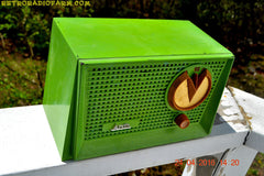 BLUETOOTH MP3 READY - Grasshopper Green Retro Jetsons Vintage 1955 Arvin 951T AM Tube Radio Works Great! , Vintage Radio - Arvin, Retro Radio Farm  - 6