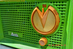 BLUETOOTH MP3 READY - Grasshopper Green Retro Jetsons Vintage 1955 Arvin 951T AM Tube Radio Works Great! , Vintage Radio - Arvin, Retro Radio Farm  - 9