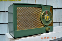 OLIVE GREEN Mid Century Retro Antique 1959 Mitchell Fiesta Model 1305 Tube AM Radio Works Great! , Vintage Radio - Mitchell, Retro Radio Farm  - 9