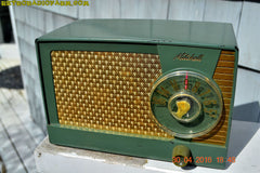 OLIVE GREEN Mid Century Retro Antique 1959 Mitchell Fiesta Model 1305 Tube AM Radio Works Great! , Vintage Radio - Mitchell, Retro Radio Farm  - 7
