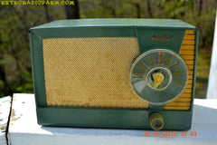 OLIVE GREEN Mid Century Retro Antique 1959 Mitchell Fiesta Model 1305 Tube AM Radio Works Great! , Vintage Radio - Mitchell, Retro Radio Farm  - 3
