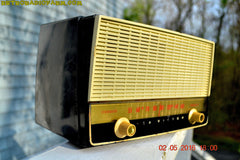 BLUETOOTH MP3 READY - Black and White Retro Jetsons Vintage 1954 RCA Victor Model X212 AM Tube Radio Works Great! , Vintage Radio - RCA Victor, Retro Radio Farm  - 7