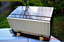 Load image into Gallery viewer, BLUETOOTH MP3 READY - Black and White Retro Jetsons Vintage 1954 RCA Victor Model X212 AM Tube Radio Works Great! , Vintage Radio - RCA Victor, Retro Radio Farm  - 5