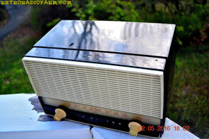 SOLD! - Sept 28, 2016 - BLUETOOTH MP3 READY - Black and White Retro Jetsons Vintage 1954 RCA Victor Model X212 AM Tube Radio Works Great! - [product_type} - RCA Victor - Retro Radio Farm