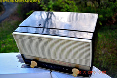 BLUETOOTH MP3 READY - Black and White Retro Jetsons Vintage 1954 RCA Victor Model X212 AM Tube Radio Works Great! , Vintage Radio - RCA Victor, Retro Radio Farm  - 5