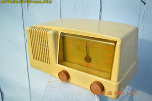 BLUETOOTH MP3 READY - Antique Ivory Mid Century Retro Vintage 1950 General Electric Model 414 AM Tube Radio Totally Restored! , Vintage Radio - General Electric, Retro Radio Farm  - 7