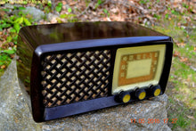 Load image into Gallery viewer, SOLD! - July 4, 2016 - BLUETOOTH MP3 Ready - Bread Box Style Brown Retro Jetsons Vintage 1955 Silvertone Model 2014 AM Tube Radio Totally Restored! - [product_type} - Silvertone - Retro Radio Farm