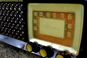 SOLD! - July 4, 2016 - BLUETOOTH MP3 Ready - Bread Box Style Brown Retro Jetsons Vintage 1955 Silvertone Model 2014 AM Tube Radio Totally Restored! - [product_type} - Silvertone - Retro Radio Farm