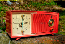 Load image into Gallery viewer, SOLD! - May 30, 2016 - BLUETOOTH MP3 Ready - Salmon Pink Mid Century Jetsons 1959 Zenith Model E514A Tube AM Clock Radio Works Great! , Vintage Radio - Zenith, Retro Radio Farm  - 4