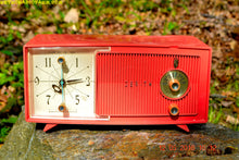 Load image into Gallery viewer, SOLD! - May 30, 2016 - BLUETOOTH MP3 Ready - Salmon Pink Mid Century Jetsons 1959 Zenith Model E514A Tube AM Clock Radio Works Great! - [product_type} - Zenith - Retro Radio Farm
