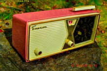 Load image into Gallery viewer, SOLD! - Aug 30, 2016 - BUBBLE Gum Pink and White Emerson Model 883 Series B Tube AM Clock Radio Mid Century Rare Color Sounds Great! - [product_type} - Emerson - Retro Radio Farm