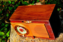 Load image into Gallery viewer, SOLD! - May 24, 2016 - BLUETOOTH MP3 READY - Art Deco 1952 General Electric Model 66 AM Brown Bakelite Tube Clock Radio Totally Restored! , Vintage Radio - General Electric, Retro Radio Farm  - 6