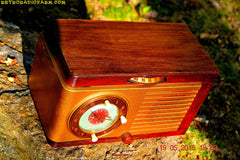 SOLD! - May 24, 2016 - BLUETOOTH MP3 READY - Art Deco 1952 General Electric Model 66 AM Brown Bakelite Tube Clock Radio Totally Restored! , Vintage Radio - General Electric, Retro Radio Farm  - 7