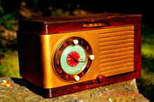 Load image into Gallery viewer, SOLD! - May 24, 2016 - BLUETOOTH MP3 READY - Art Deco 1952 General Electric Model 66 AM Brown Bakelite Tube Clock Radio Totally Restored! - [product_type} - General Electric - Retro Radio Farm