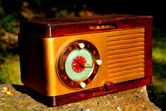 SOLD! - May 24, 2016 - BLUETOOTH MP3 READY - Art Deco 1952 General Electric Model 66 AM Brown Bakelite Tube Clock Radio Totally Restored! , Vintage Radio - General Electric, Retro Radio Farm  - 5