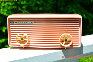 BLUETOOTH MP3 READY - Princess Pink Retro Jetsons 1959 Motorola Model 57R Tube AM Clock Radio Totally Restored! , Vintage Radio - Motorola, Retro Radio Farm  - 1