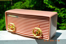 Load image into Gallery viewer, BLUETOOTH MP3 READY - Princess Pink Retro Jetsons 1959 Motorola Model 57R Tube AM Clock Radio Totally Restored! , Vintage Radio - Motorola, Retro Radio Farm  - 2
