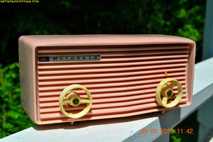 BLUETOOTH MP3 READY - Princess Pink Retro Jetsons 1959 Motorola Model 57R Tube AM Clock Radio Totally Restored! , Vintage Radio - Motorola, Retro Radio Farm  - 3