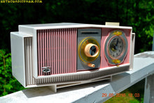 Load image into Gallery viewer, SOLD! - May 30, 2016 - BLUETOOTH MP3 READY - Cotton Candy Pink Retro Jetsons 1963 Motorola Model C19P23 Tube AM Clock Radio Totally Restored! , Vintage Radio - Motorola, Retro Radio Farm  - 3