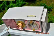 Load image into Gallery viewer, SOLD! - May 30, 2016 - BLUETOOTH MP3 READY - Cotton Candy Pink Retro Jetsons 1963 Motorola Model C19P23 Tube AM Clock Radio Totally Restored! , Vintage Radio - Motorola, Retro Radio Farm  - 8