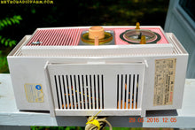 Load image into Gallery viewer, SOLD! - May 30, 2016 - BLUETOOTH MP3 READY - Cotton Candy Pink Retro Jetsons 1963 Motorola Model C19P23 Tube AM Clock Radio Totally Restored! , Vintage Radio - Motorola, Retro Radio Farm  - 11