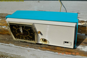 SOLD! - June 13, 2016 - BLUETOOTH MP3 Ready - Turquoise and White Retro Jetsons Vintage 1957 RCA Victor Model C-2E AM Tube Radio Works Great! - [product_type} - RCA Victor - Retro Radio Farm