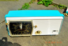 Load image into Gallery viewer, SOLD! - June 13, 2016 - BLUETOOTH MP3 Ready - Turquoise and White Retro Jetsons Vintage 1957 RCA Victor Model C-2E AM Tube Radio Works Great! - [product_type} - RCA Victor - Retro Radio Farm