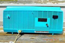 Load image into Gallery viewer, SOLD! - June 13, 2016 - BLUETOOTH MP3 Ready - Turquoise and White Retro Jetsons Vintage 1957 RCA Victor Model C-2E AM Tube Radio Works Great!