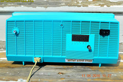 SOLD! - June 13, 2016 - BLUETOOTH MP3 Ready - Turquoise and White Retro Jetsons Vintage 1957 RCA Victor Model C-2E AM Tube Radio Works Great!