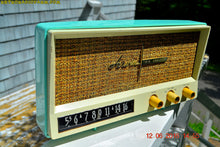 Load image into Gallery viewer, SOLD! - Aug 15, 2016 - BLUETOOTH MP3 READY - AQUAMARINE BLUE Retro Jetsons Vintage 1959 Arvin 2585 AM Tube Radio WORKS! - [product_type} - Arvin - Retro Radio Farm