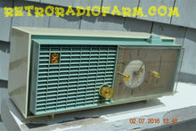 Load image into Gallery viewer, SOLD! - Nov 14, 2016 - SLATE BLUE Mid Century Retro Jetsons 1964 Sylvania Model AK22 Tube AM Clock Radio Totally Restored!