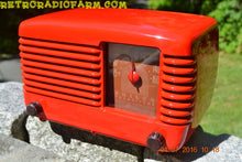 Load image into Gallery viewer, SOLD! - July 4, 2016 - BLUETOOTH MP3 Ready - LIPSTICK RED Vintage Deco Retro 1948 Philco Transitone 48-200 AM Bakelite Tube Radio Works! - [product_type} - Philco - Retro Radio Farm