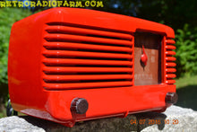 Load image into Gallery viewer, SOLD! - July 4, 2016 - BLUETOOTH MP3 Ready - LIPSTICK RED Vintage Deco Retro 1948 Philco Transitone 48-200 AM Bakelite Tube Radio Works!