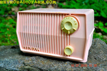 Load image into Gallery viewer, SOLD! - Aug 1, 2016 - BLUETOOTH MP3 Ready - Pink Marshmallow Retro Mid Century Vintage 1959 Admiral Model 4L2A AM Tube Radio Totally Restored! - [product_type} - Admiral - Retro Radio Farm
