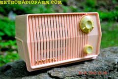 SOLD! - Aug 1, 2016 - BLUETOOTH MP3 Ready - Pink Marshmallow Retro Mid Century Vintage 1959 Admiral Model 4L2A AM Tube Radio Totally Restored!