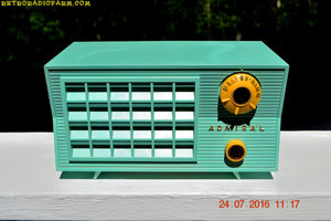 SOLD! - Aug 7, 2016 - BLUETOOTH MP3 Ready - Pistachio Green Antique Mid Century Vintage 1955 Admiral 5R3 AM Tube Radio Sounds Great! - [product_type} - Admiral - Retro Radio Farm