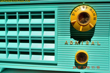 Load image into Gallery viewer, SOLD! - Aug 7, 2016 - BLUETOOTH MP3 Ready - Pistachio Green Antique Mid Century Vintage 1955 Admiral 5R3 AM Tube Radio Sounds Great! - [product_type} - Admiral - Retro Radio Farm