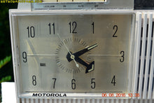 Load image into Gallery viewer, SOLD! - Apr 15, 2017 - BLUETOOTH MP3 READY - Paper White Retro Jetsons 1961 Motorola Model C12P46 Tube AM Clock Radio Totally Restored! - [product_type} - Motorola - Retro Radio Farm